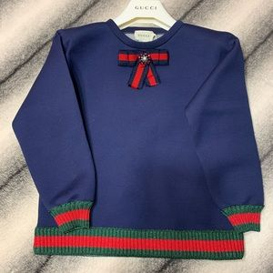 { Gucci } GG Jersey Sweatshirt with Bow